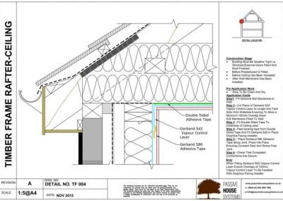 Timber Frame Rafter Ceiling