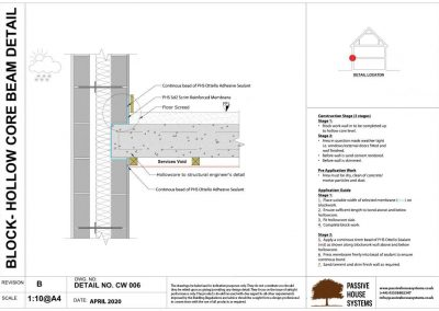 Block - Hollow Core Beam Detail - Passive House Systems