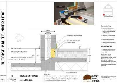 Block- D.P.M. to Inner Leaf - Passive House Systems
