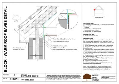 Block - Warm Roof Eaves Detail - Passive House Systems