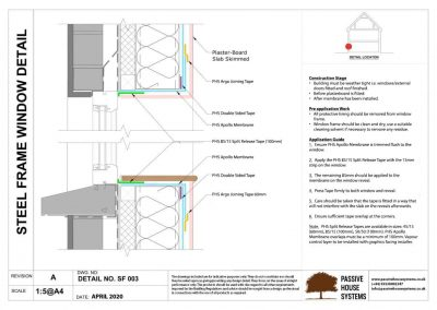Steel Frame Window Detail - Passive House Systems