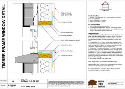 Timber Frame Window Detail - Passive House Systems
